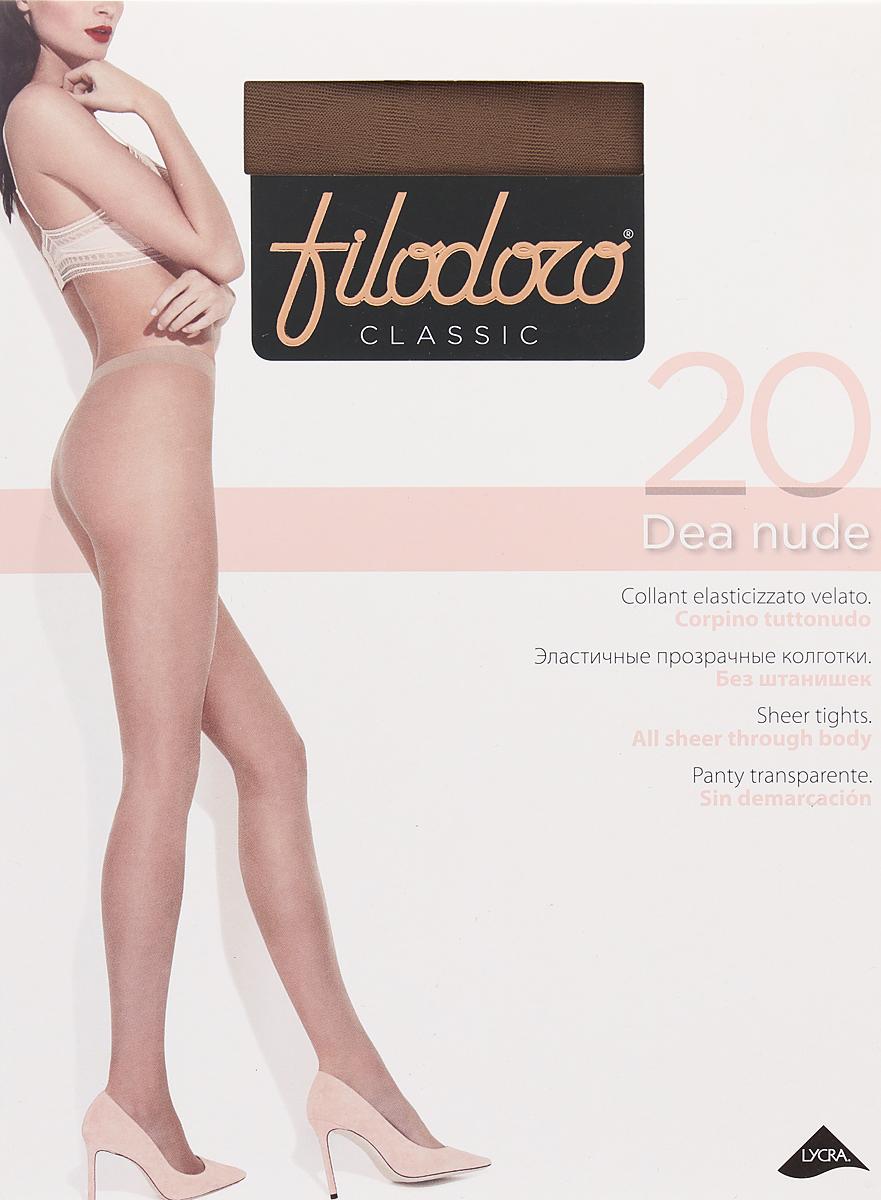 Колготки женские Filodoro Classic Dea Nude 20, цвет: Glace (бронзовый). SNL-411545. Размер 3Dea Nude 20Тонкие эластичные колготки. Без штанишек, комфортные швы, гигиеничная ластовица, невидимый мысок.