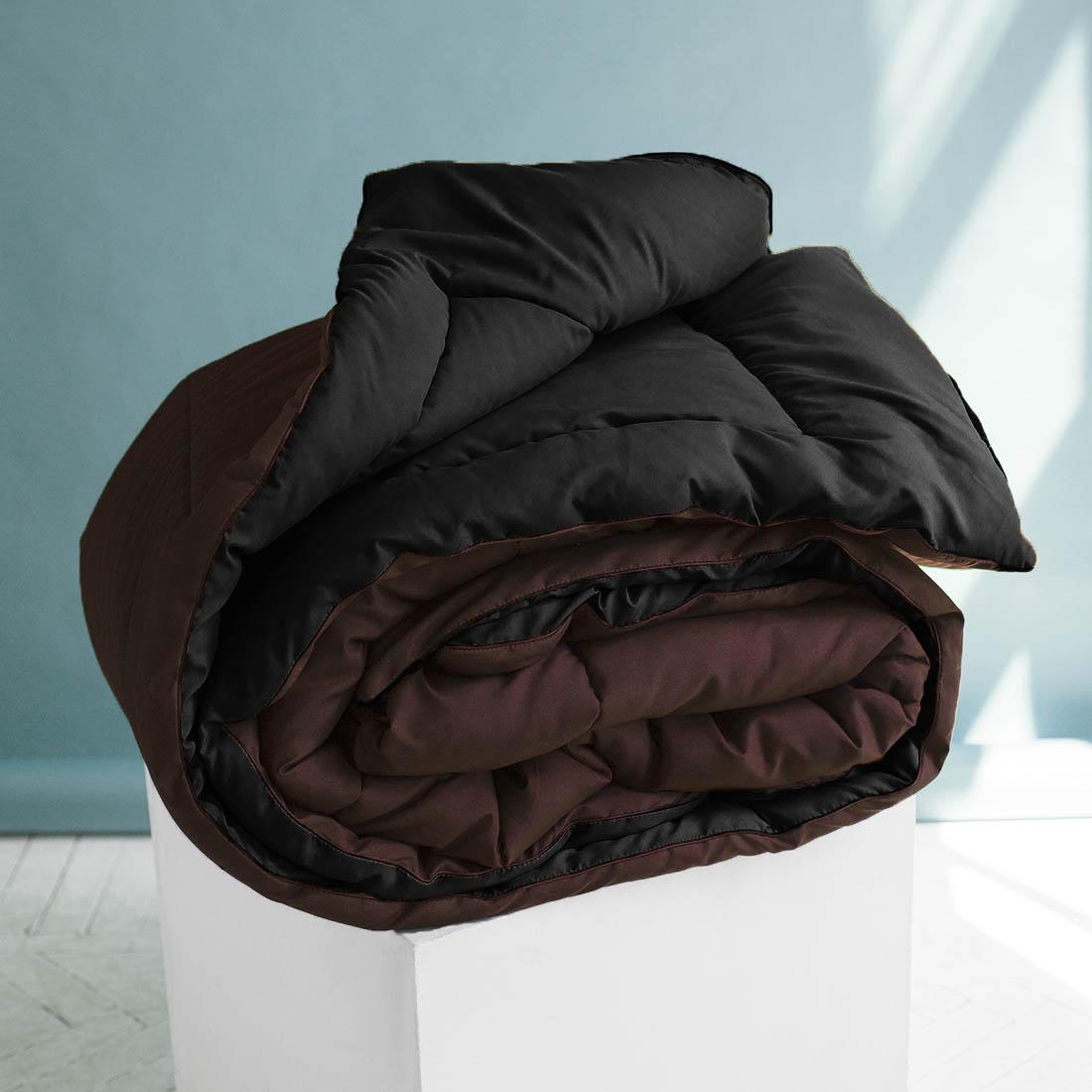 Одеяло  Sleep iX , наполнитель: силиконизированное волокно, цвет: коричневый, черный, 175 х 205 см. pva320007 -  Одеяла