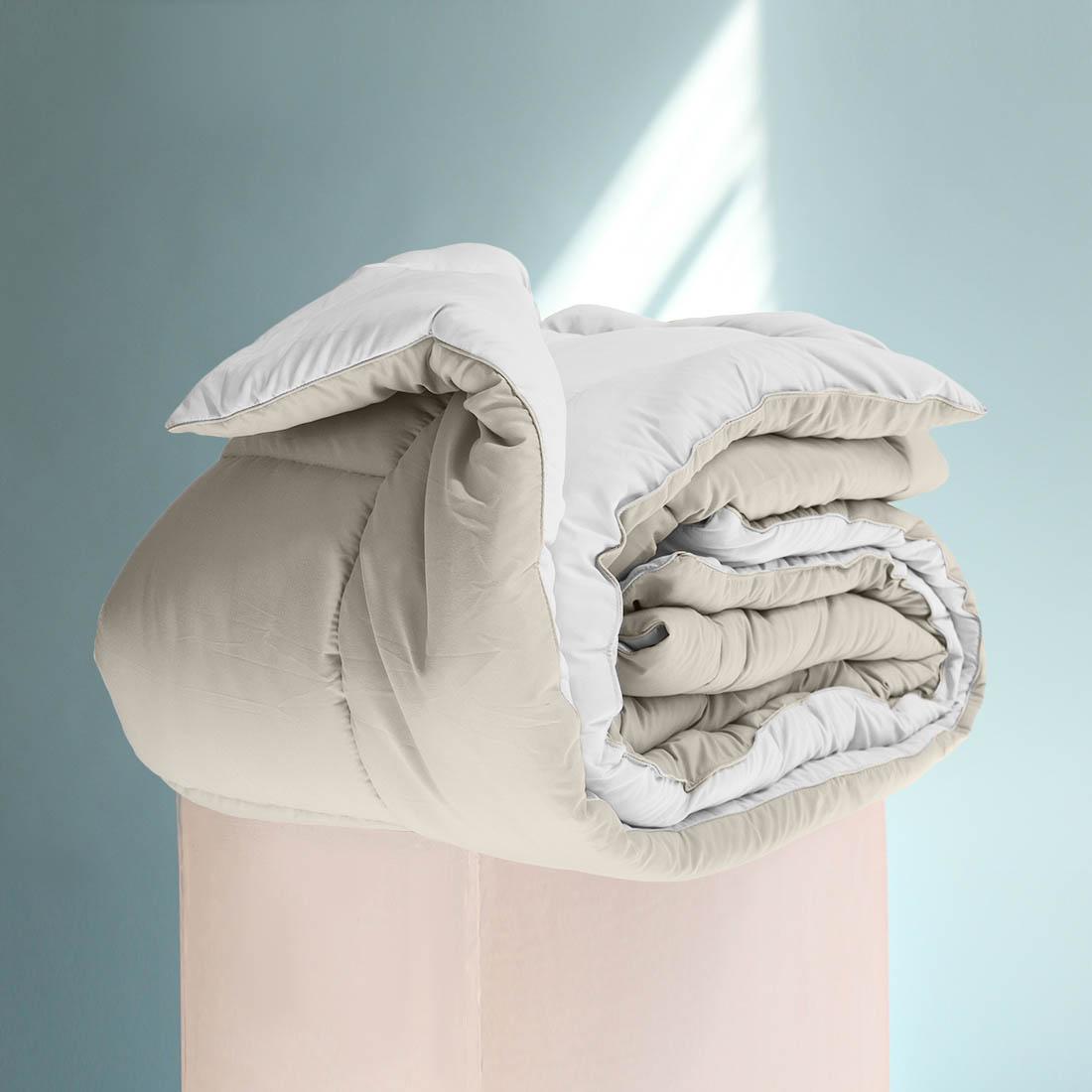 Одеяло  Sleep iX , наполнитель: силиконизированное волокно, цвет: бежевый, белый, 220 х 240 см. pva320019 -  Одеяла