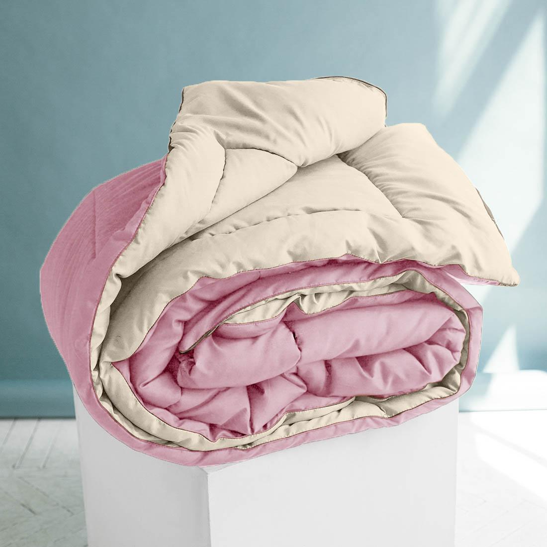 Одеяло Sleep iX, наполнитель: силиконизированное волокно, цвет: бежевый, розовый, 140 х 205 см. pva320020pva320020Особая технология позволяет использовать это одеяло без пододеяльника, не опасаясь износа.Материал чехла MicroSkin - это гладкая и шелковистая ткань с легким блеском, по своему виду не уступает натуральному хлопку. Хорошо сохраняет тепло, очень приятна на ощупь, прочна и устойчива к стирке.Силиконизированное волокно делают из тонких волокон полиэфира, обработанных силиконом. Одеяло с таким наполнителем отлично сохраняет тепло, создавая максимальный комфорт и уют. Силиконизированное волокно отлично держит форму, не сбиваясь в комки. На ощупь наполнитель похож на пух, поэтому производители часто называют его искусственным пухом. Одеяло с полиэфирным наполнителем отлично подойдёт людям, страдающим аллергией, так как не впитывает запахи и отталкивает пыль. Кант делают из атласа или вискозы, он помогает изделию держать форму в течение многих лет. Кантик есть на многих объемных изделиях из текстиля, иногда его могут дополнительно прострочить по периметру или сделать широким.