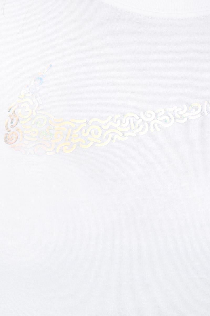 Футболка для девочки Nike Sportswear, цвет:  белый.  913193-100.  Размер L (146/158) Nike