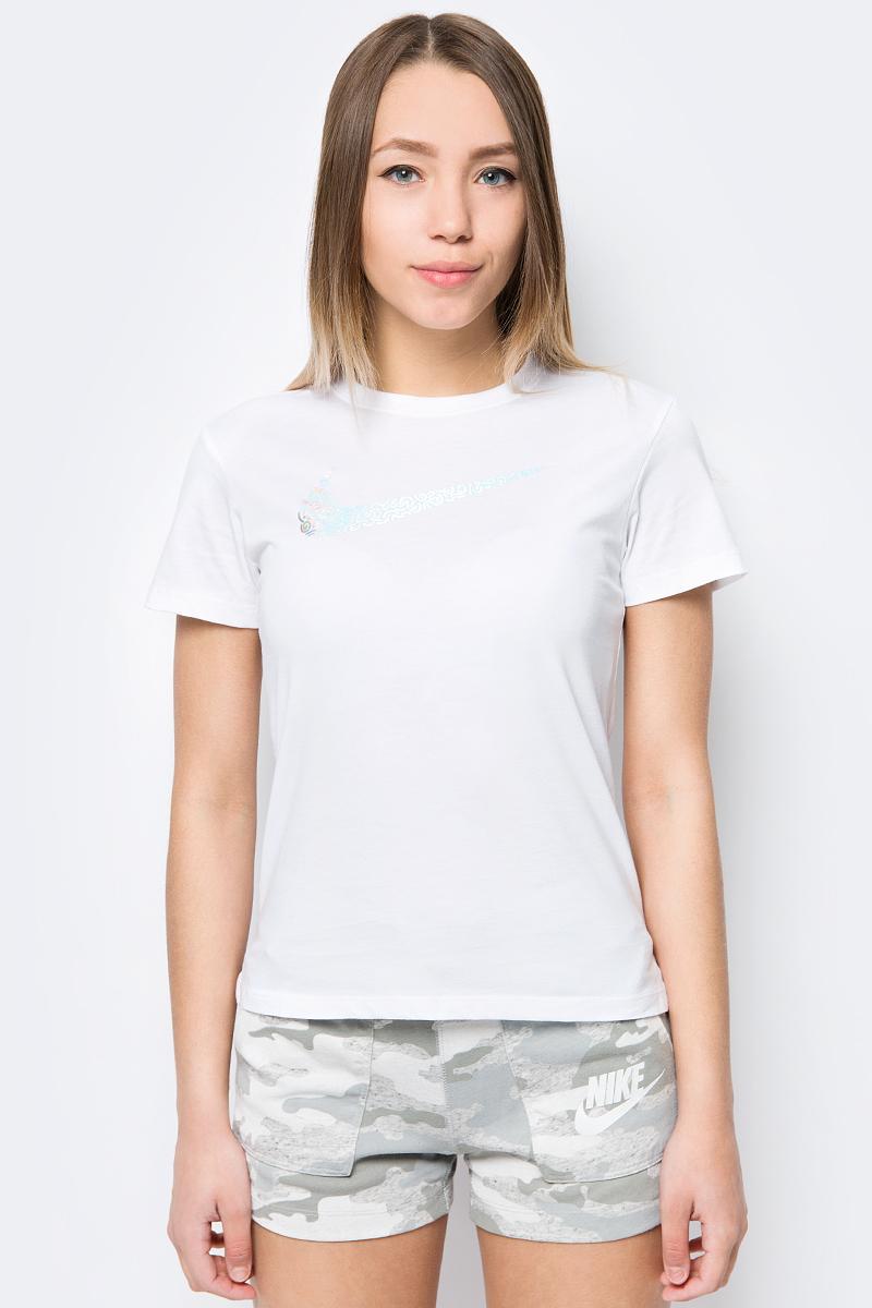 Футболка для девочки Nike Sportswear, цвет: белый. 913193-100. Размер XS (122/128)