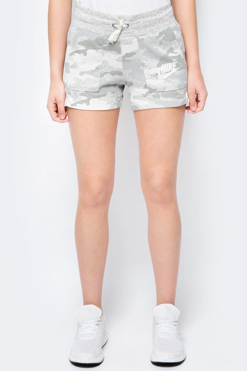 Шорты женские Nike Sportswear Vintage, цвет: серый, зеленый. AO9180-019. Размер XS (40/42) кроссовки nike tokicc 599441 019