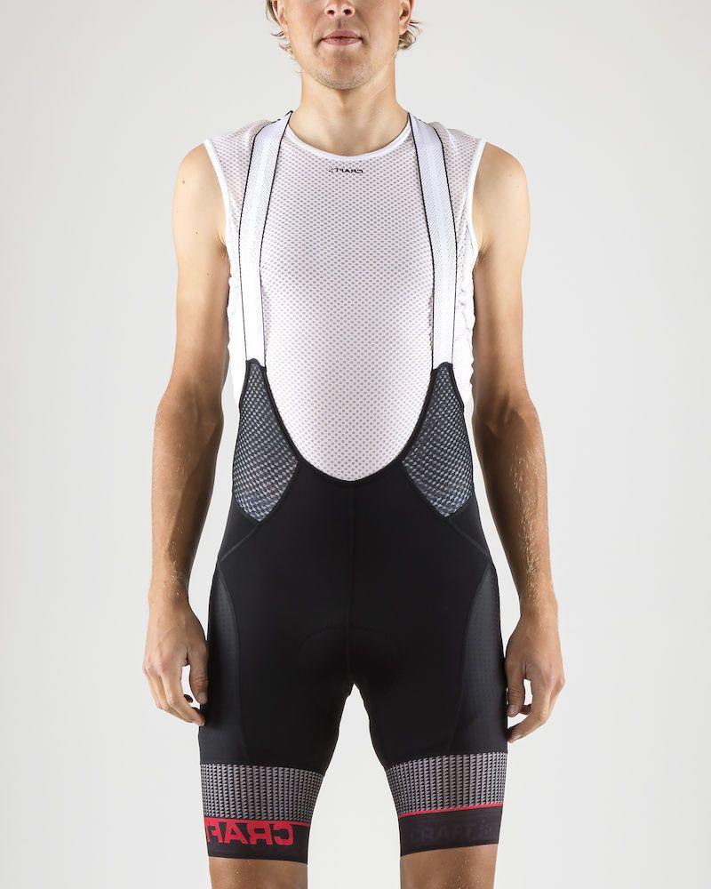 Шорты мужские для велоспорта Craft Route Bib, цвет: черный. 1906091/999900. Размер S (46)1906091/999900