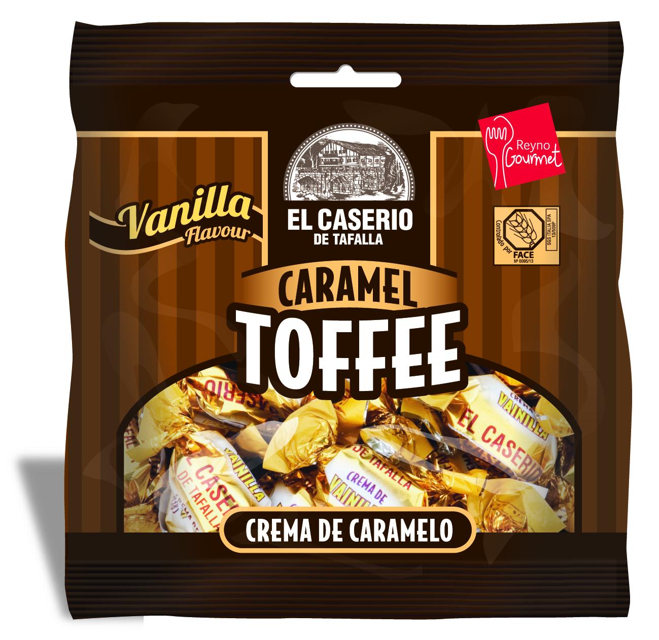El Caserio de Tafalla Конфеты сливочные ванильные карамельные пакет, 85 г карамель бон пари дыня арбуз 75 г