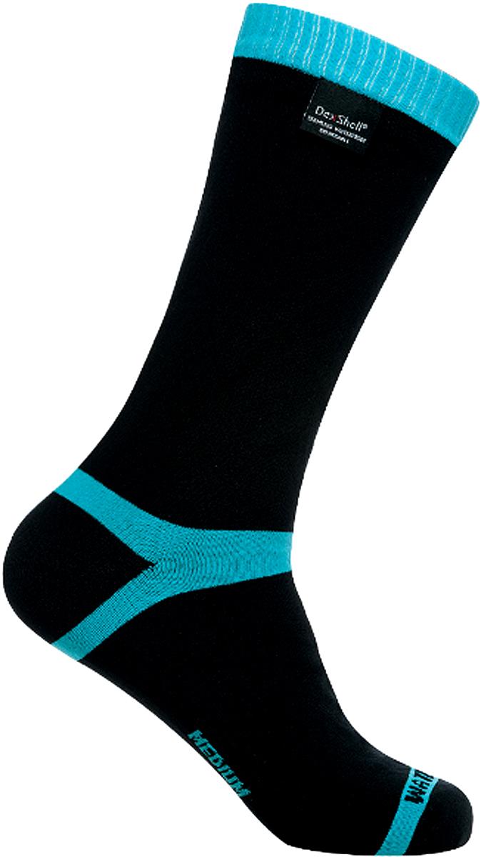 Носки водонепроницаемые Dexshell, цвет: черный, голубой. DS628. Размер XL (47/49)