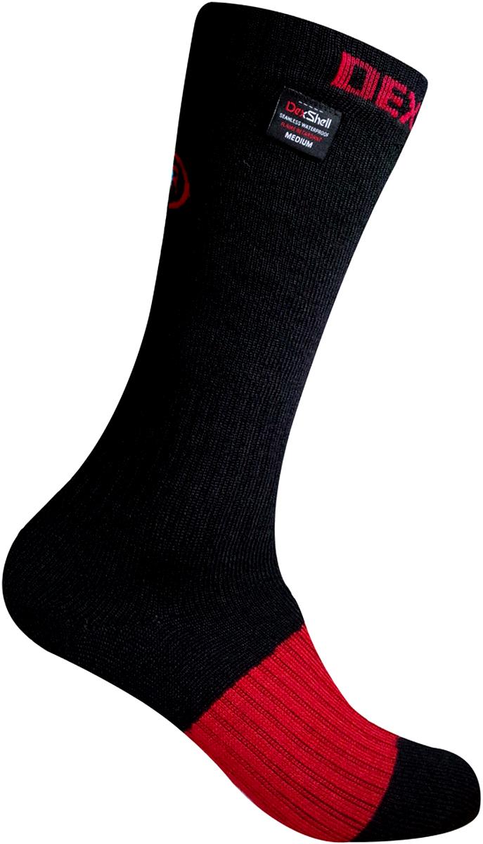 Носки водонепроницаемые Dexshell, цвет: черный, красный. DS432. Размер S (36/38)