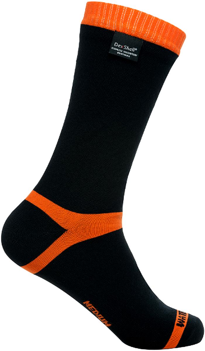 Носки водонепроницаемые Dexshell, цвет: черный, оранжевый. DS634. Размер XL (47/49)