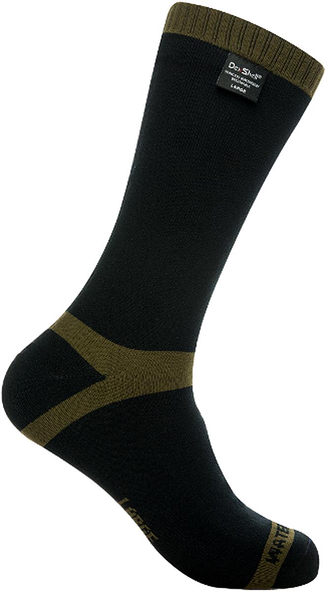 Носки водонепроницаемые Dexshell, цвет: черный, зеленый. DS636. Размер XL (47/49) носки kross prs tall размер xl черный t4cod000275xlbk