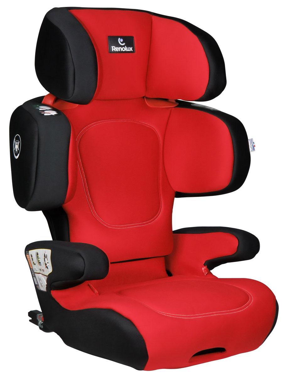 Renolux Автокресло Renofix цвет красный черный автокресло renolux renofix 2 3 от 15 до 36 кг romeo