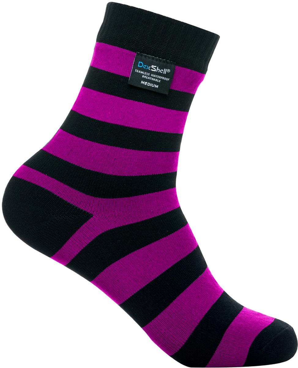 Носки водонепроницаемые Dexshell, цвет: черный, розовый. DS643P. Размер S (36/38)
