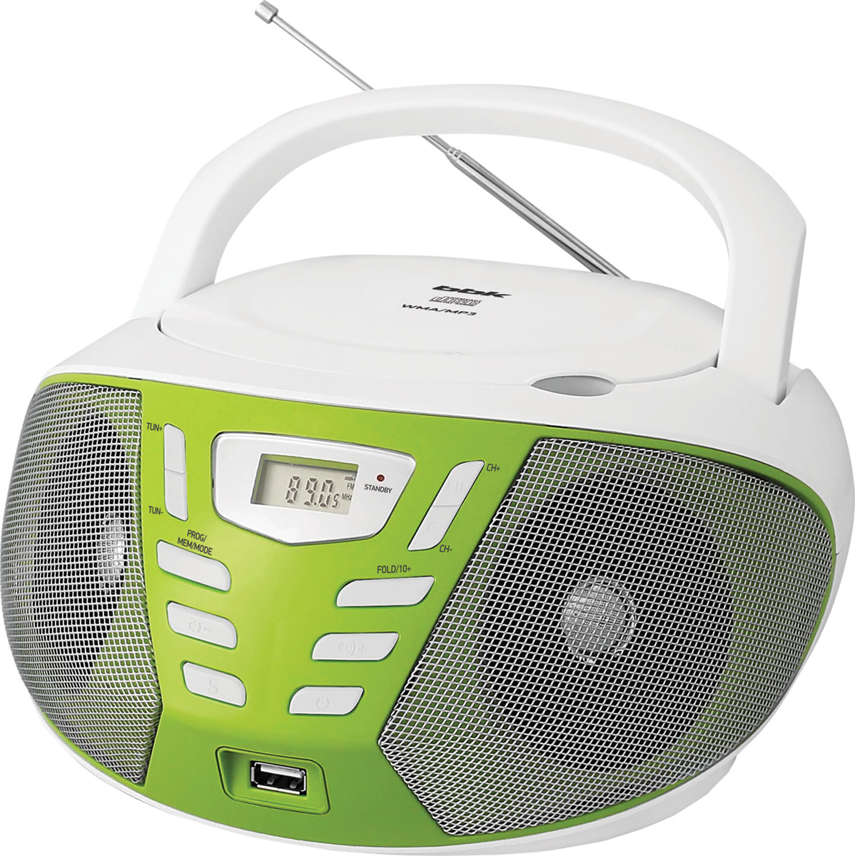 BBK BX193U, White Green CD/MP3 магнитола