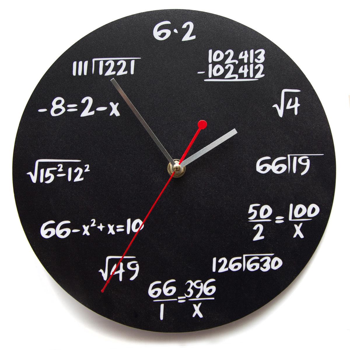 Часы настенные Magellanno Математика, кварцевые, цвет: черный, 26 х 26 см