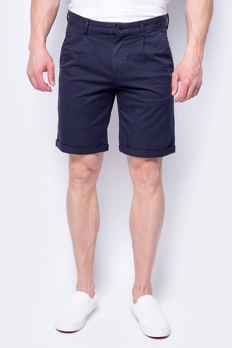 Шорты мужские Calvin Klein Jeans, цвет: темно-синий. J30J307431_4020. Размер 38 (56/58) джинсы мужские calvin klein jeans цвет синий j30j306636 9114 размер 30 44 46