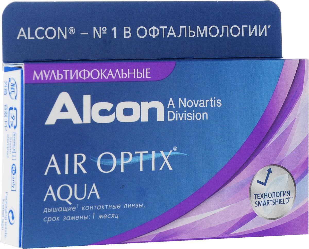 Alcon-CIBA Vision контактные линзы Air Optix Aqua Multifocal (3шт / 8.6 / 14.2 / -2.25 / Med)