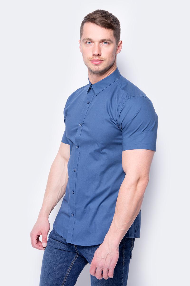 Купить Рубашка мужская Only & Sons, цвет: синий. 22008733. Размер M (48)