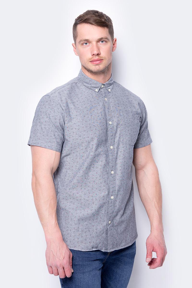 Рубашка мужская Jack & Jones, цвет: красный. 12134124. Размер M (48) цена