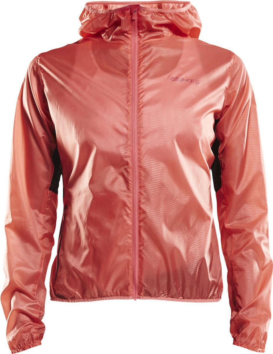 Ветровка женская Craft Breakaway Lightweight , цвет: розовый. 1905839/702000. Размер XS (42)1905839/702000Легкая ветровка от Craft с отверстиями для проветривания, созданными с помощью технологии лазерной обрезки. Экстремально легкая и комфортная, плетеная полиэстеровая ткань с надежными свойствами защиты от ветра и влаги. Куртку можно сложить в ее собственный карман и прикрепить к поясу на шнурок.