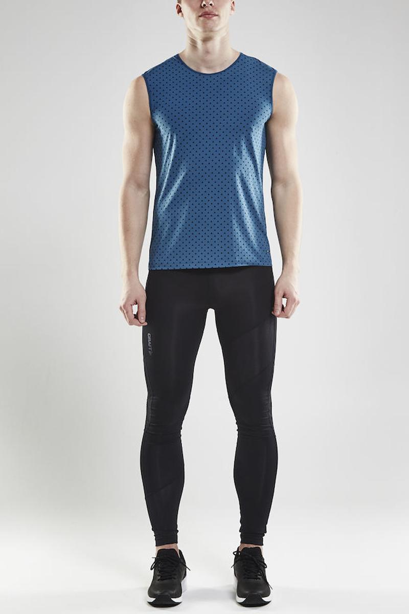 Майка мужская Craft Essential SL, цвет: синий. 1906050/123657. Размер S (46)1906050/123657Мягкая, легкая и дышащая футболка без рукавов, обеспечивающая постоянный комфорт в течение всего дня. Быстросохнущая и приятная на ощупь ткань.