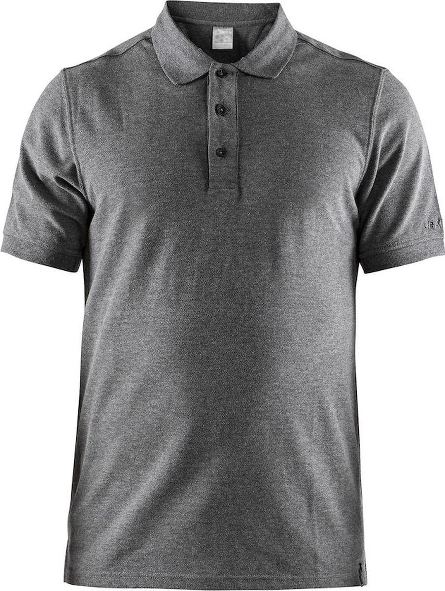 Купить Поло мужское Craft Casual Pique, цвет: серый. 1905800/975000. Размер M (48)