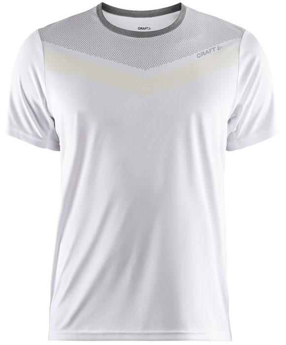 Футболка мужская Craft Eaze SS One, цвет: белый. 1905876/900809. Размер L (50)1905876/900809Мягкая и легкая футболка для занятий спортом с эргономичной формой и сетчатой тканью в области подмышечных впадин.
