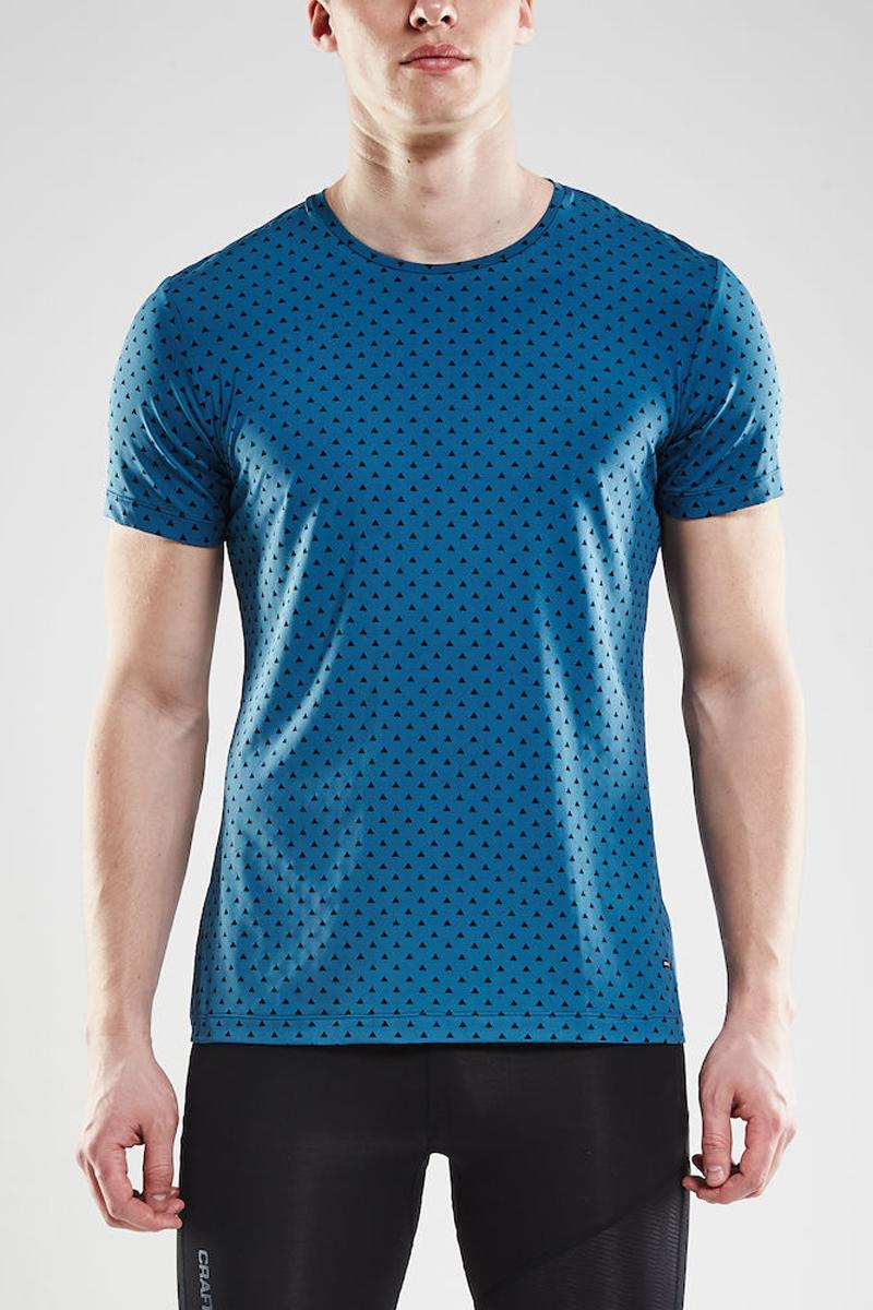 Футболка мужская Craft Essential RN, цвет: бирюзовый. 1906052/123657. Размер M (48)1906052/123657Мягкая, легкая и дышащая футболка, обеспечивающая постоянный комфорт в течение дня. Быстросохнущая и охлаждающая ткань.