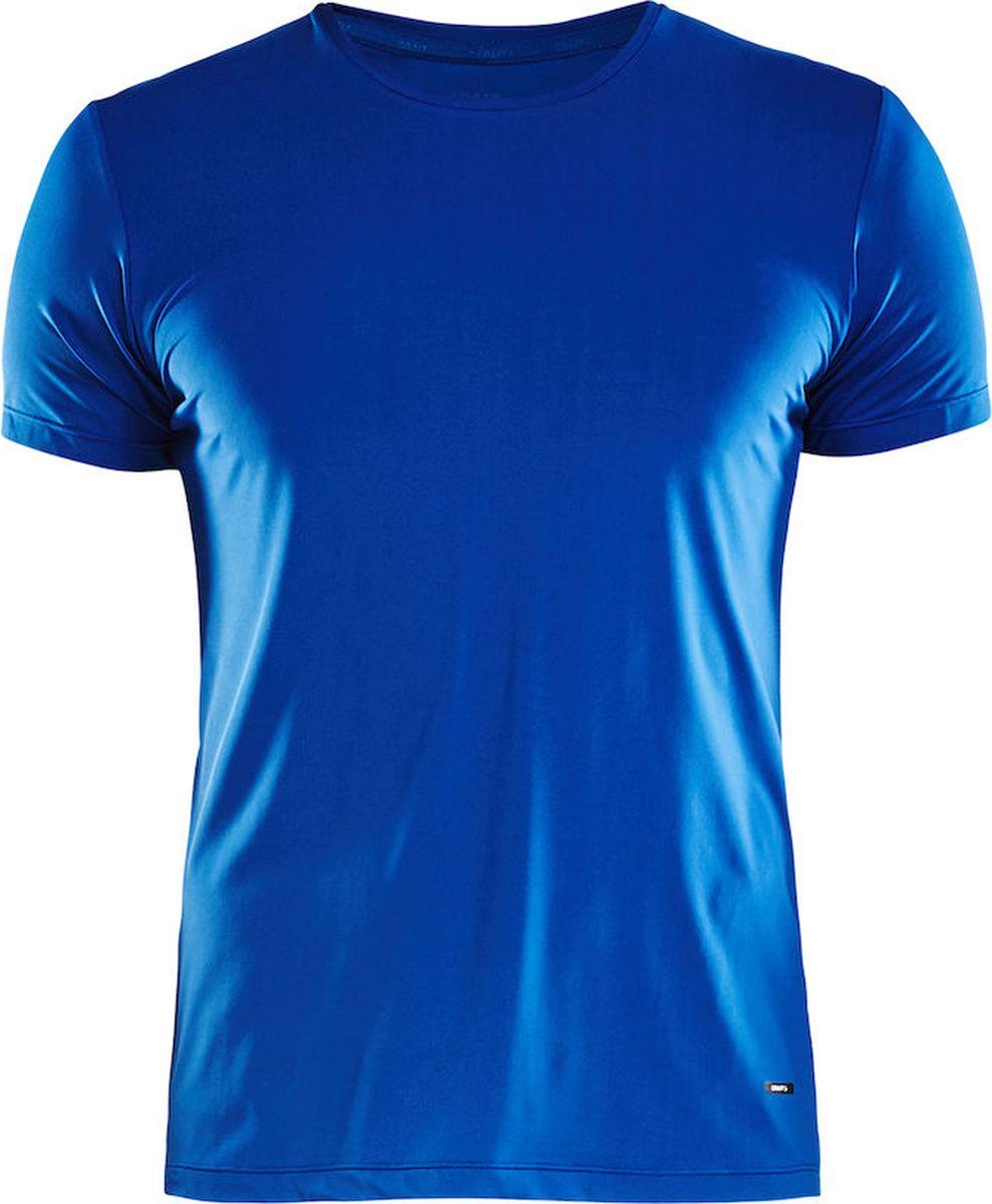 Футболка мужская Craft Essential RN, цвет: синий. 1906052/367000. Размер M (48)1906052/367000Мягкая, легкая и дышащая футболка, обеспечивающая постоянный комфорт в течение дня. Быстросохнущая и охлаждающая ткань.