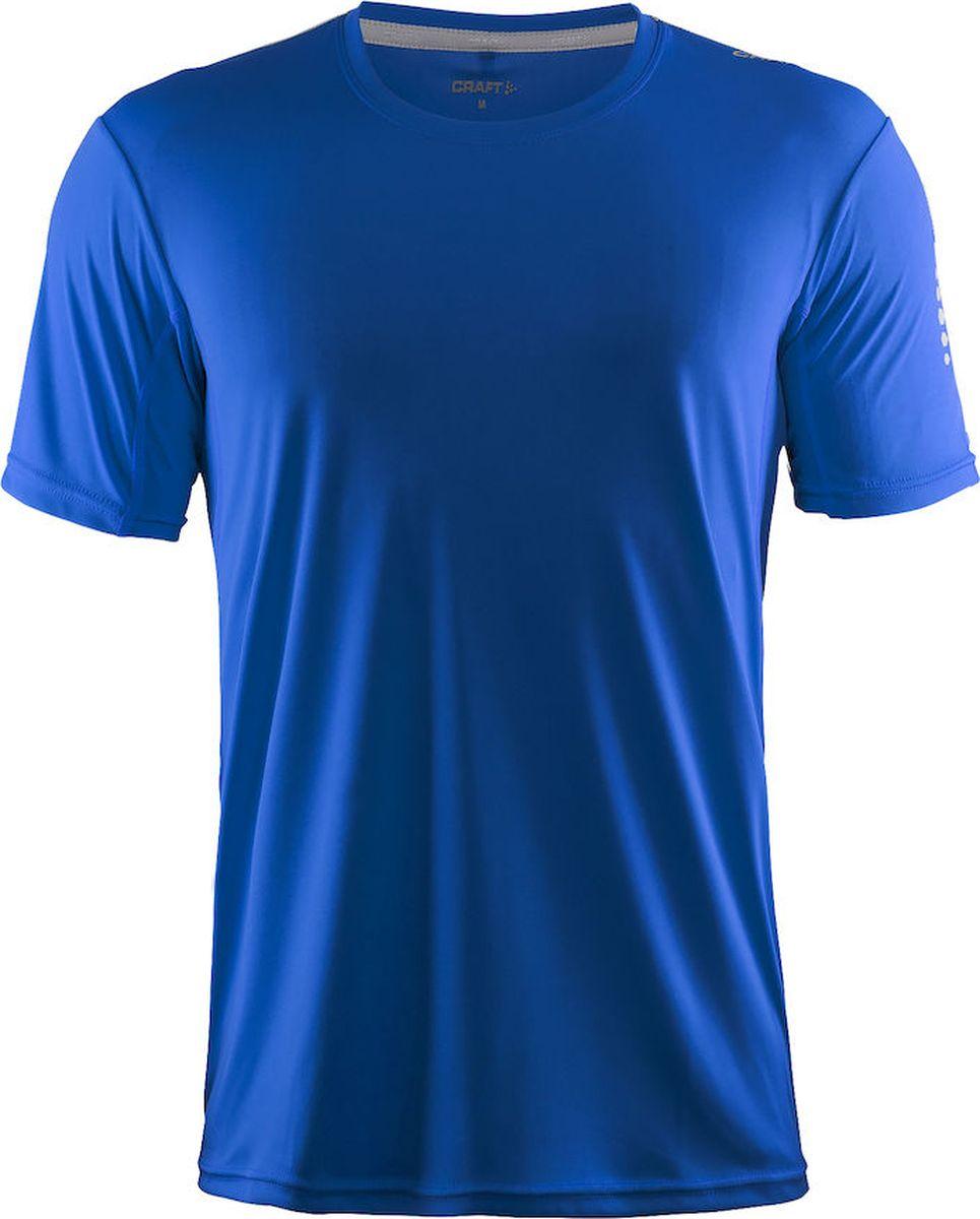 Футболка мужская Craft Mind Run, цвет: голубой. 1903949/1336. Размер XL (52)1903949/1336Мягкая и легкая футболка для занятий спортом с эргономичной формой из полиэстеровой ткани.