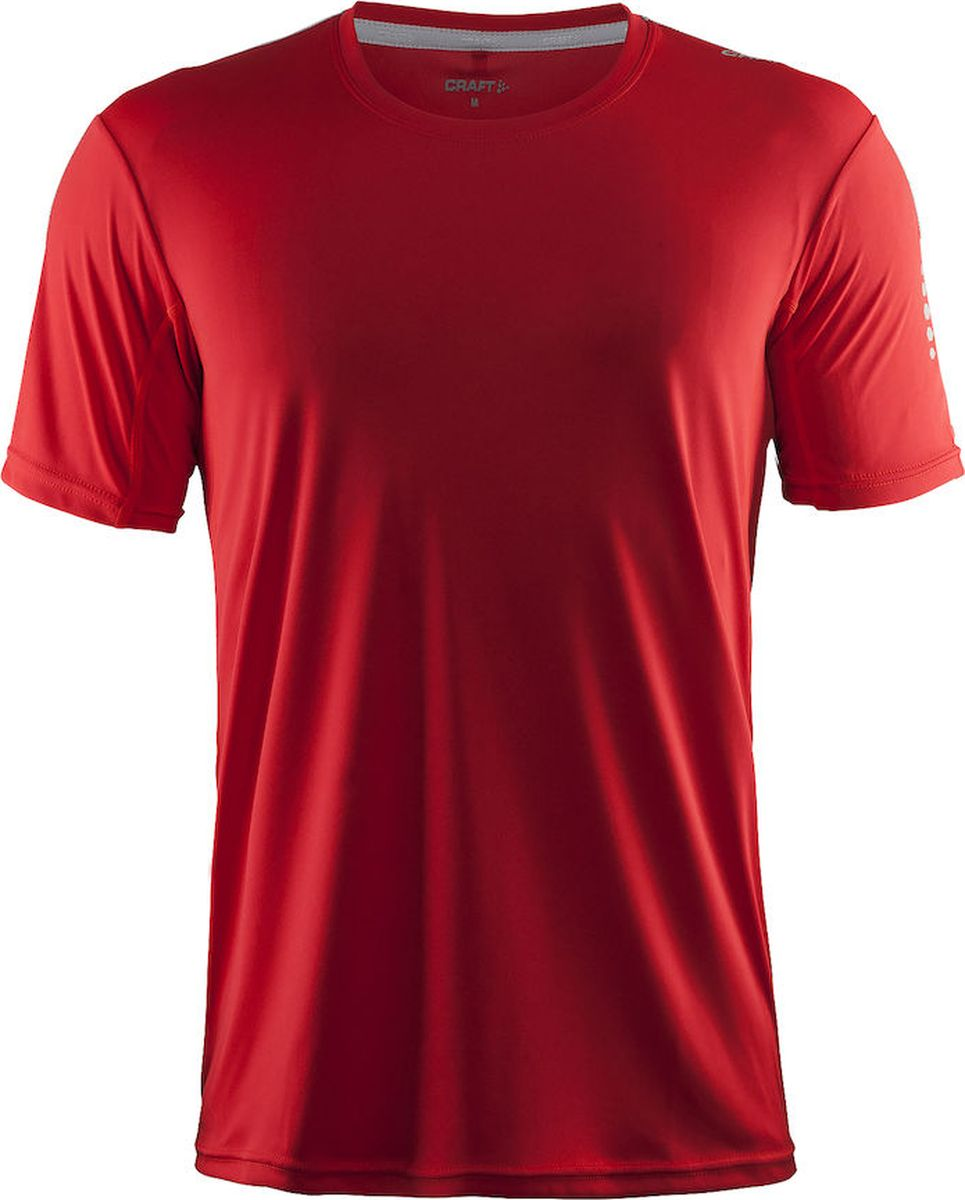 Футболка мужская Craft Mind Run, цвет: красный. 1903949/1430. Размер L (50)1903949/1430Мягкая и легкая футболка для занятий спортом с эргономичной формой из полиэстеровой ткани.