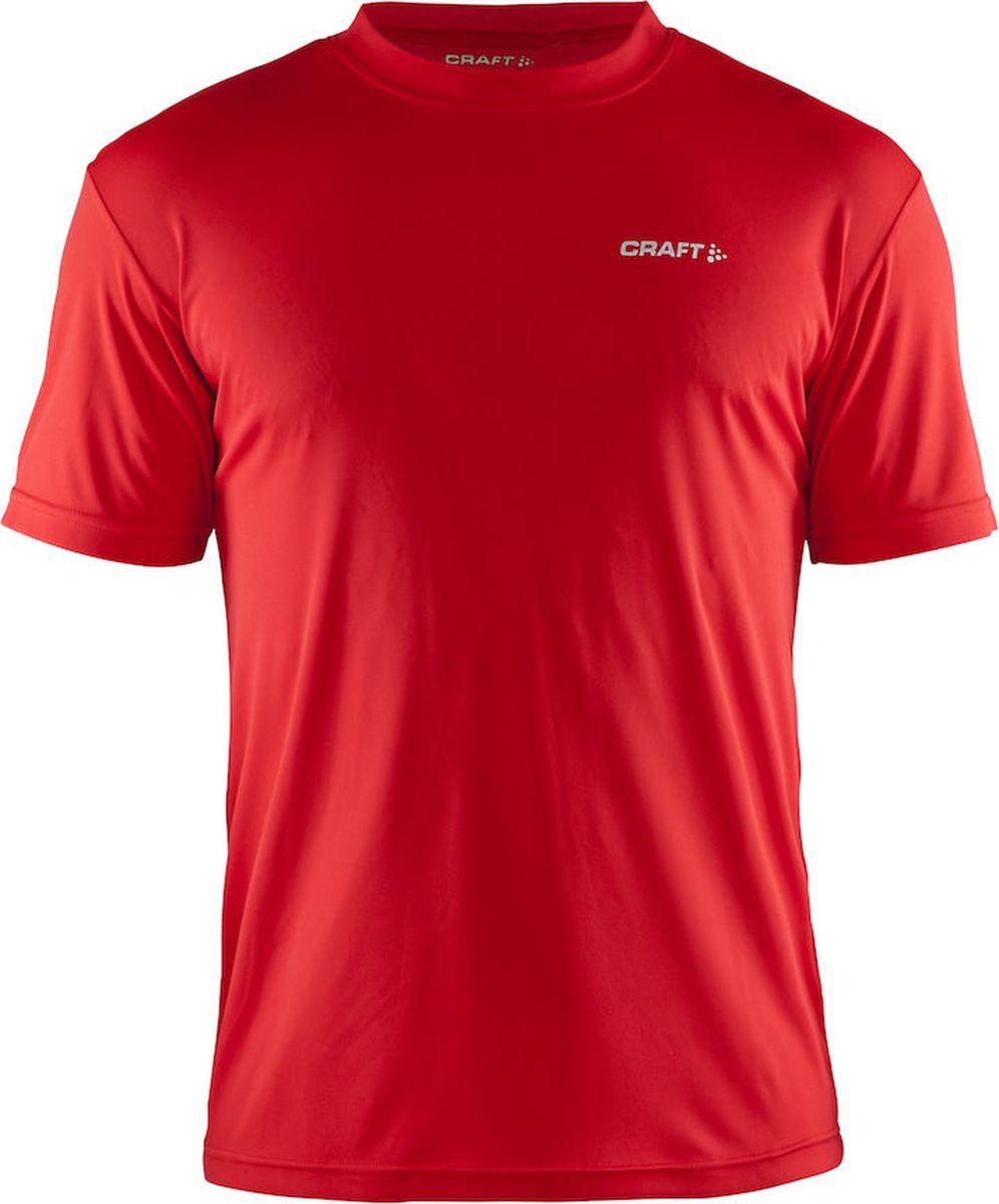 Футболка мужская Craft Prime Run, цвет: красный. 199205/1430. Размер XL (52)199205/1430Мягкая и легкая футболка для занятий спортом с эргономичной формой из полиэстеровой ткани.