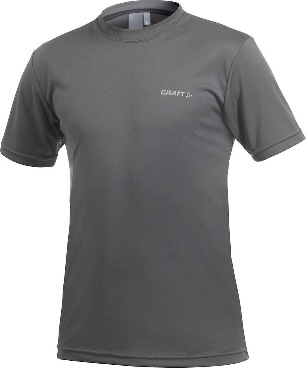 Футболка мужская Craft Prime Run, цвет: серый. 199205/1950. Размер XL (52)199205/1950Мягкая и легкая футболка для занятий спортом с эргономичной формой из полиэстеровой ткани.