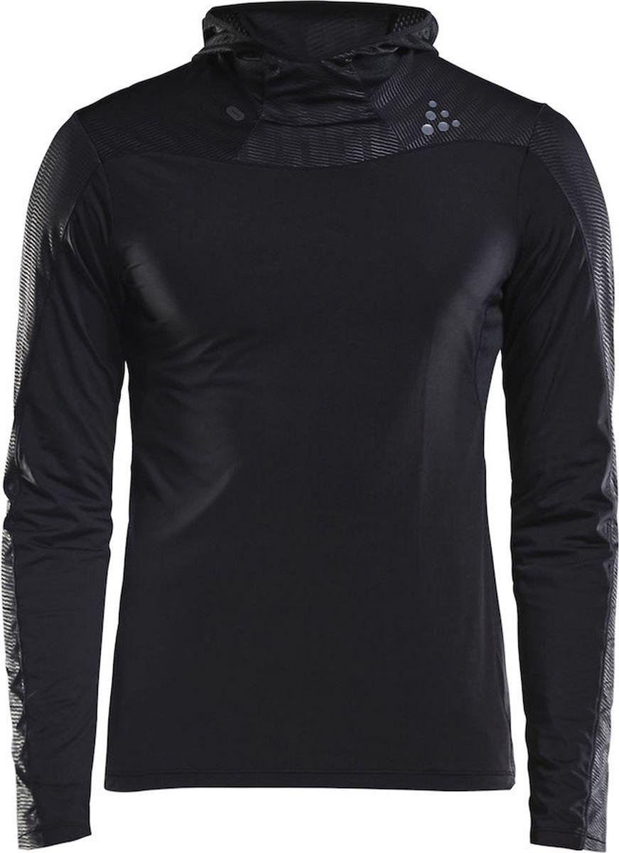 Худи мужское Craft Shade LS, цвет: черный. 1905842/999000. Размер M (48)1905842/999000Мягкая рубашка с капюшоном, с сетчатыми вставками в области подмышечных впадин и УФ-защитой 50+.