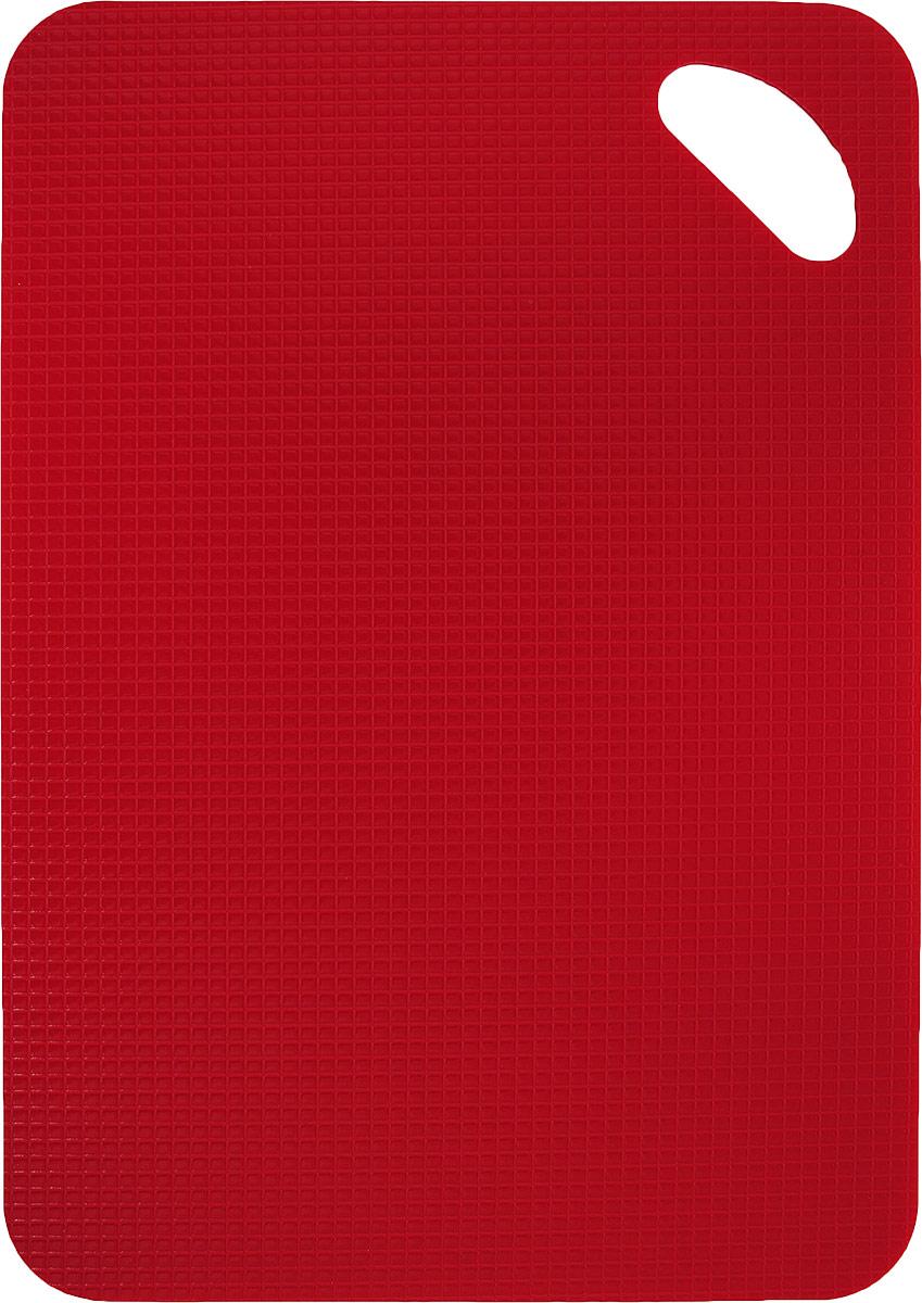 Доска разделочная, противоскользящая, гибкая, цвет: красный, 30 х 20 х 0,2 см статуэтка кролик 30 х 20 х 29 см