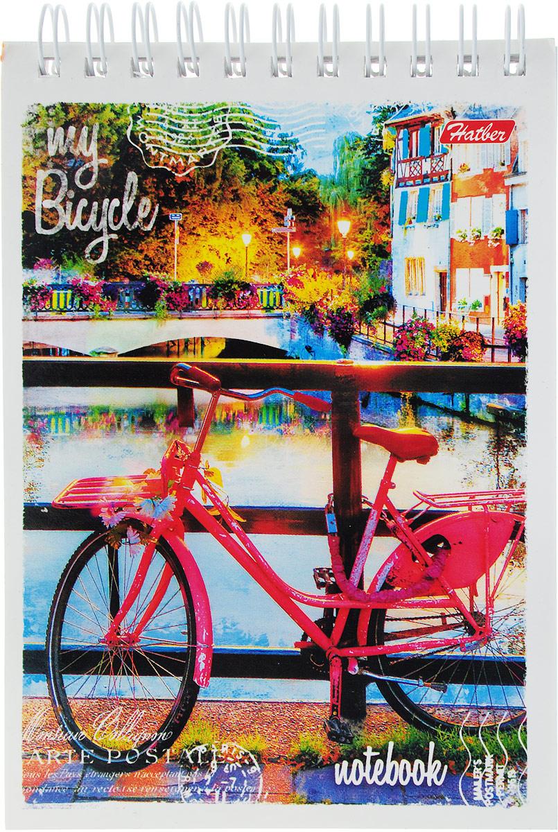 Hatber Блокнот Лето на велосипеде цвет розовый 80 листов