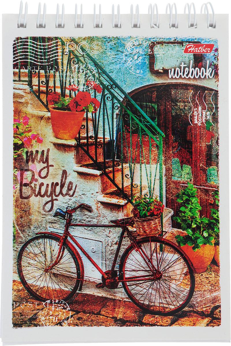 Hatber Блокнот Лето на велосипеде цвет красный 80 листов блокнот страны швейцария цвет красный