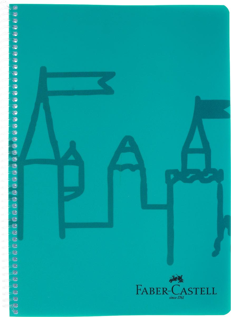 Faber-Castell Блокнот Castle 80 листов в линейку цвет бирюзовый цена
