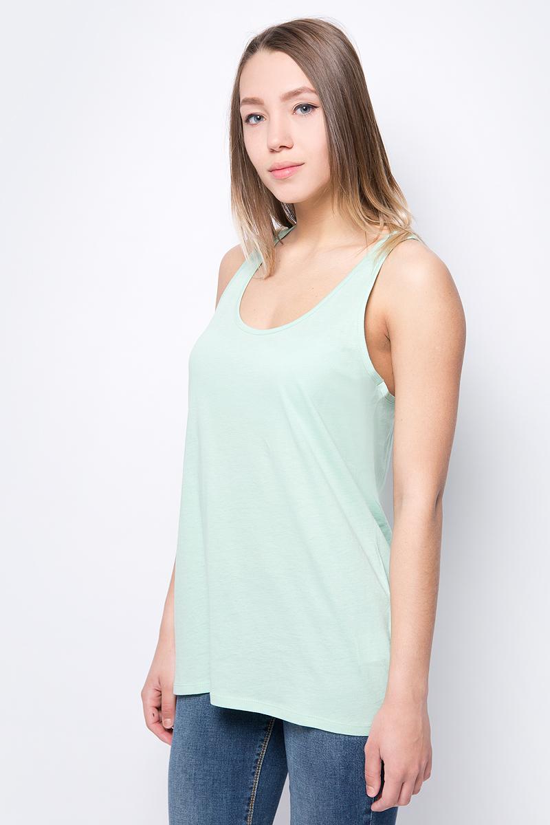 Топ женский United Colors of Benetton, цвет: светло-зеленый. 3L7NE8342_20G. Размер L (46/48) топ бра женский puma iconic racer back bra 1 цвет белый 90688903 размер l 46 48