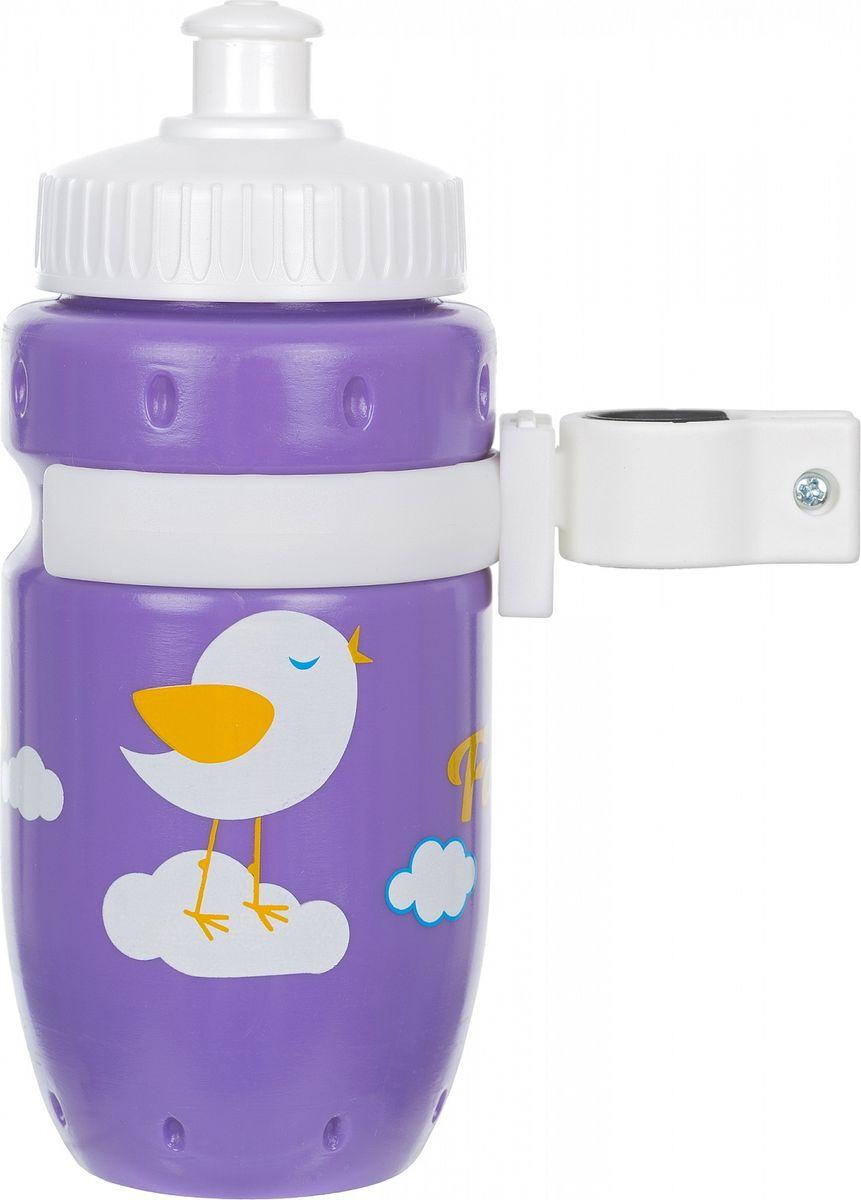 Фляга велосипедная Stern Water Bottle, с держателем, цвет: фиолетовый, 350 мл фляга велосипедная детская cyclotech с держателем 350 мл cbs 1vin