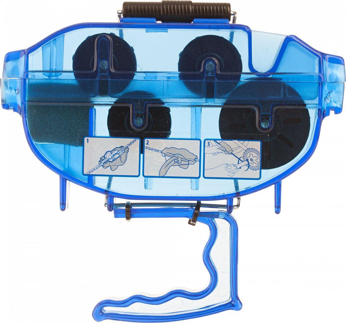Машинка для чистки велосипедной цепи Cyclotech Chain Cleaner, цвет: синий видеорегистратор sho me fhd 625 2 45 1920x1080 3mp 170° g сенсор usb microsd microsdhc