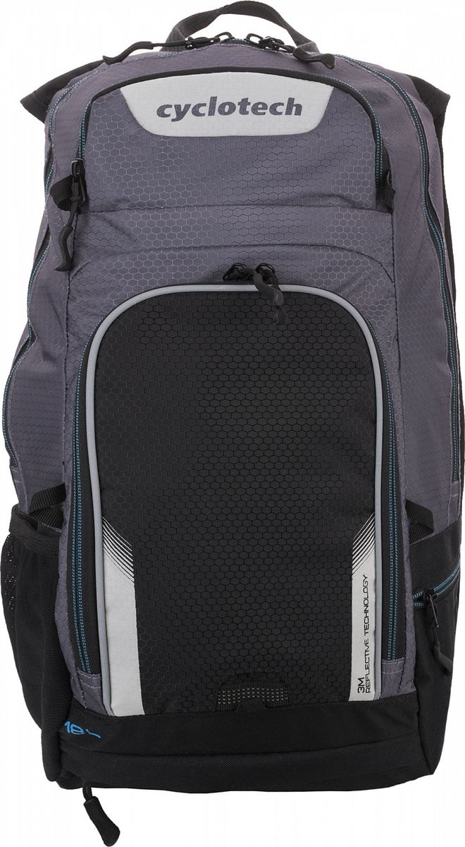 Рюкзак Cyclotech Backpack, цвет: серый, черный, 18 л