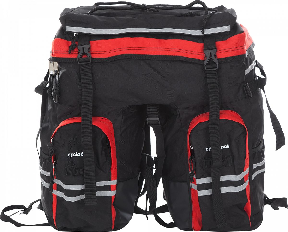 Велосумка под раму Cyclotech Bicycle Bag, цвет: черный, красный