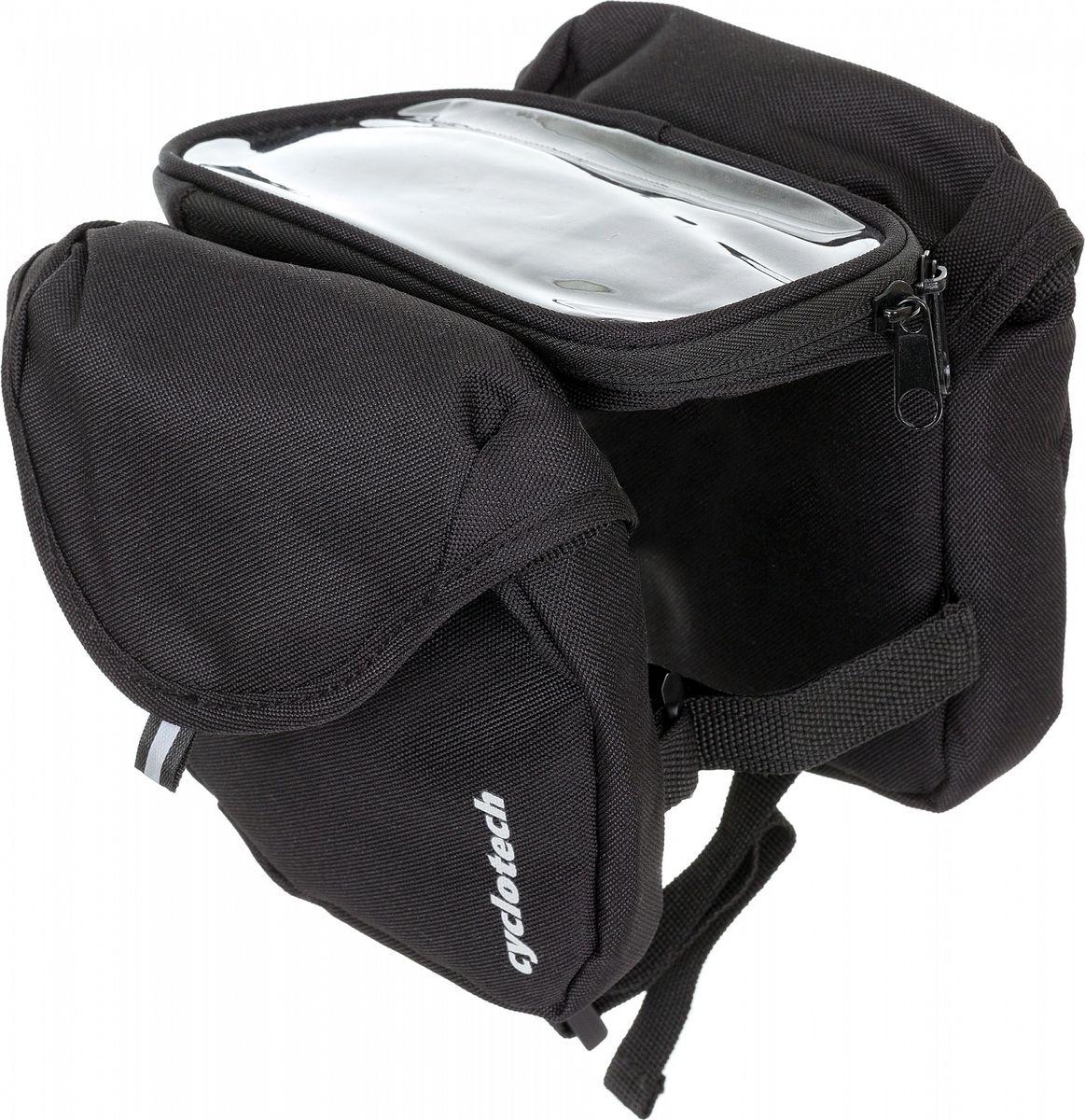 Велосумка под раму Cyclotech Bicycle Bag, цвет: черныйCYC-31Велосипедная сумка Cyclotech. Особенности модели: крепится на раму; влагонепроницаемый карман для смартфона; быстрая и легкая установка.