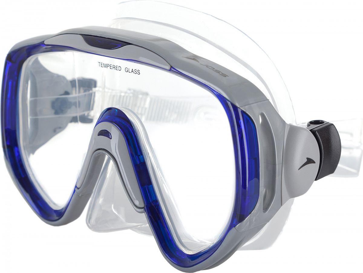Маска для плавания  Joss , цвет: серый, синий - Дайвинг