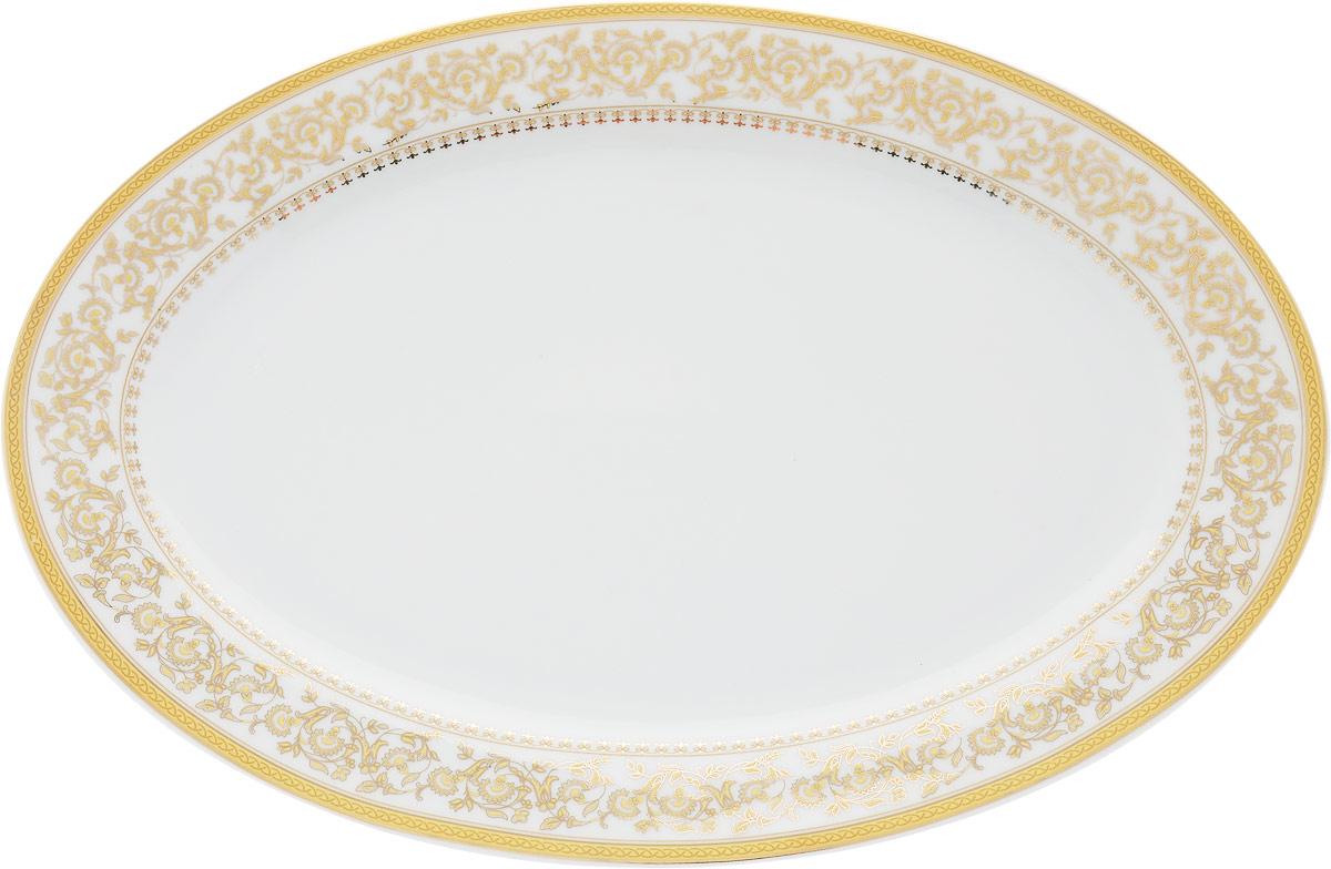 Блюдо овальное МФК-профит Империя, 30,5 х 20,5 см tanite victoir platineatine 1489 блюдо овальное 35 см цвет белый с платиной