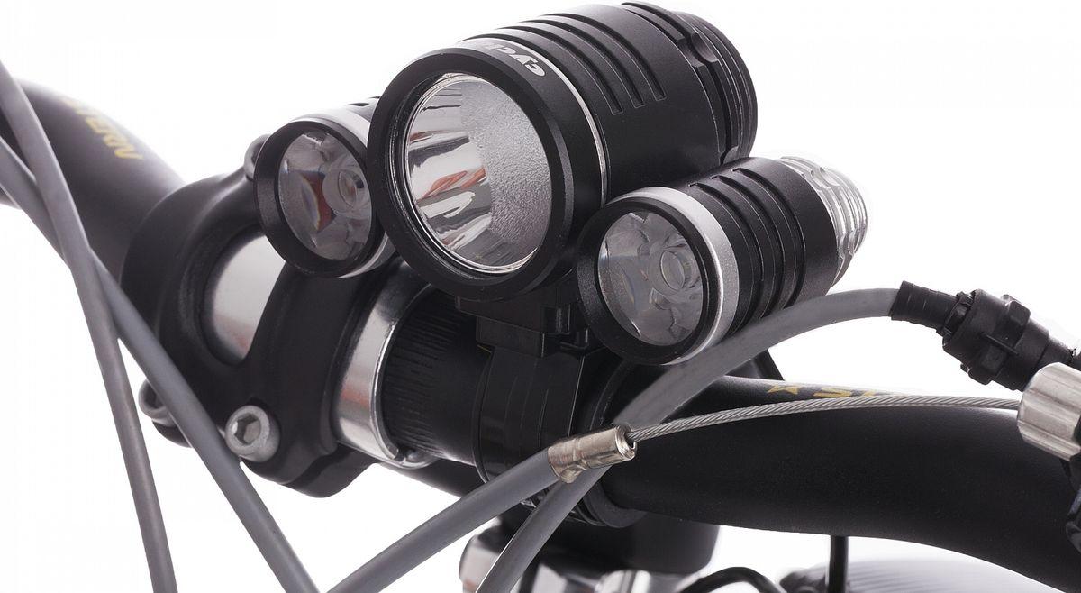 Фонарь велосипедный велосипедный Cyclotech Front Light, передний, цвет: черный
