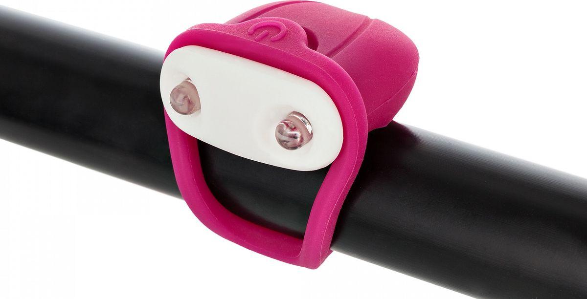 Фонарь велосипедный Cyclotech Bicycle Front Light, габаритный, передний,цвет: розовый передний габаритный фонарь dosun diamond d80 черный