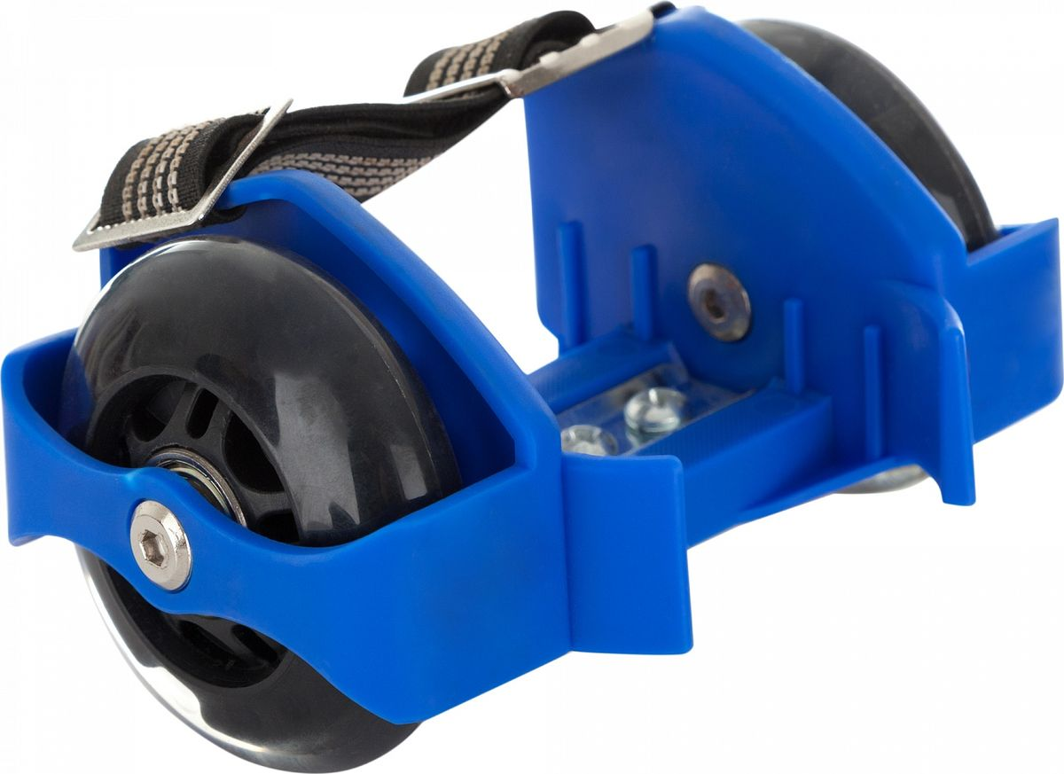 Ролики на обувь Reaction Shoes Rollers, цвет: синийRRSH-BLРоликовые колеса надеваются прямо на обувь и позволяют перемещаться по городу быстро и с комфортом! Колеса раздвигаются под размер обуви, а также светятся во время езды.