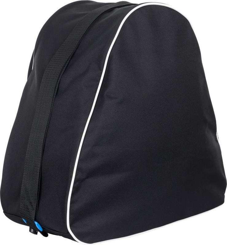 Удобная сумка подойдет для переноски и хранения как роликовых, так и ледовых коньков.