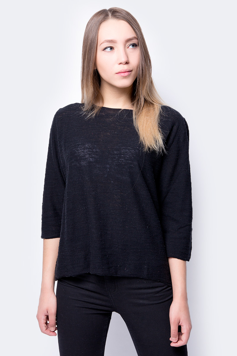 Кофта женская United Colors of Benetton, цвет: черный. 105GD1C66_700. Размер XS (40/42) цена 2017