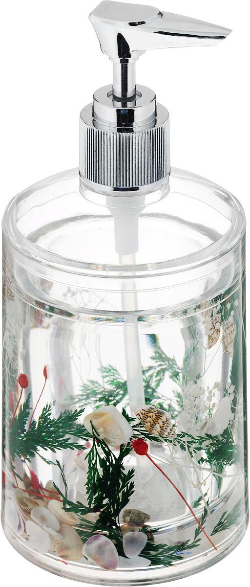 Дозатор для жидкого мыла Duschy Маки, цвет: зеленый877-06_зеленый